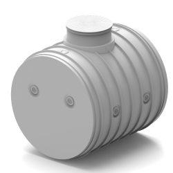 Ivóvíz tároló tartály lépésálló tetővel, 2,5m3-es