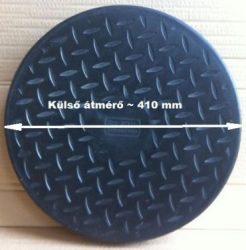 Lépésálló műanyag fedő, DN 400