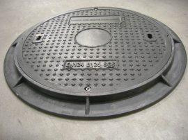 Gyalogútra, parkolóra megfelelő kompozit fedlap kerettel (zsanéros, kerek) B125