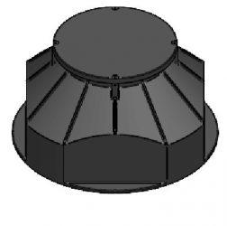 Szerelvényakna PE fedlappal (vízhatlan), DN1000/610