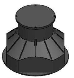 Szerelvényakna PE fedlappal (vízhatlan), DN1000/850